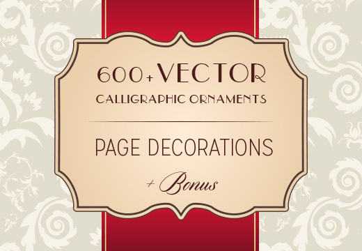 600+ Vector Calligraphic Ornaments