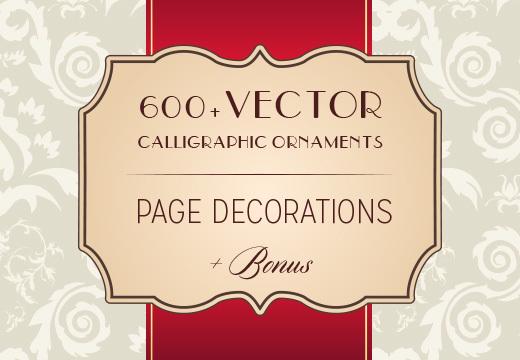 600+ Vector Calligraphic Ornaments