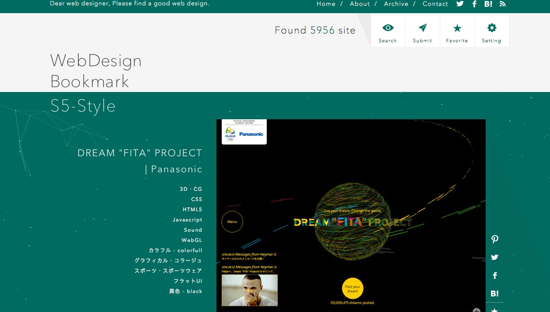 WebDesign Bookmark S5-Style