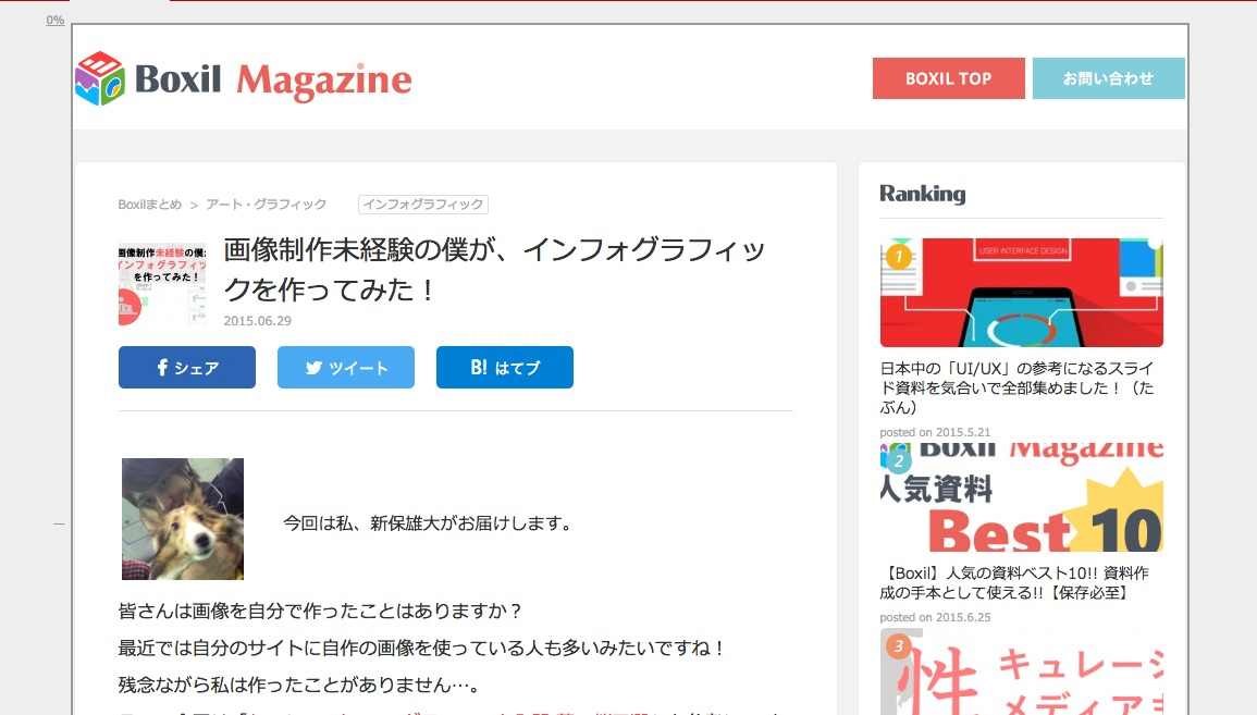 画像制作未経験の僕が、インフォグラフィックを作ってみた!|Boxil magazine