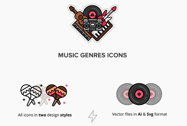 Music Genres Icons