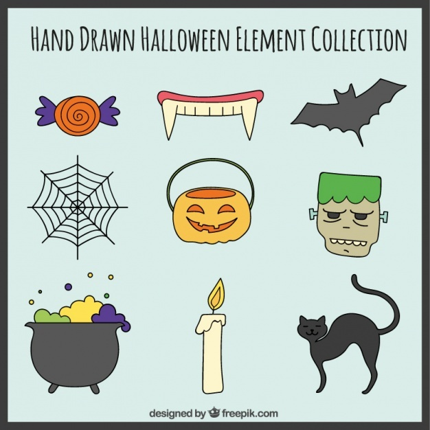 Nine creepy elements for halloween