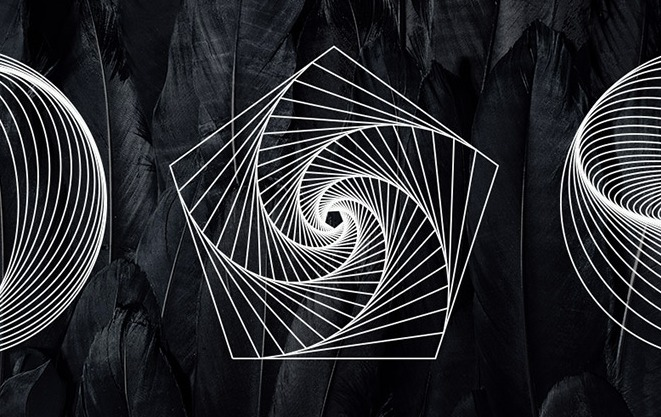 18 Geometric Line Art Vectors