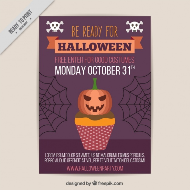 Poster for halloween costumes party