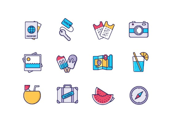 Vacation Stuff Icons