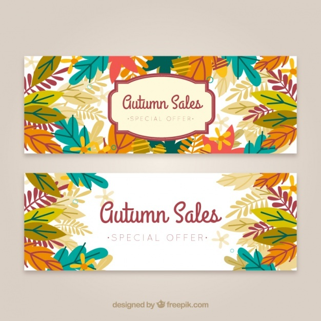 Autumn sales banners
