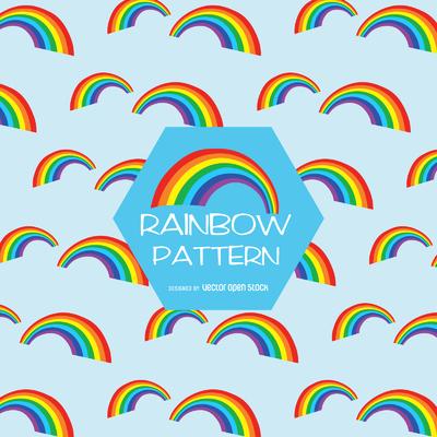 Flat rainbow pattern