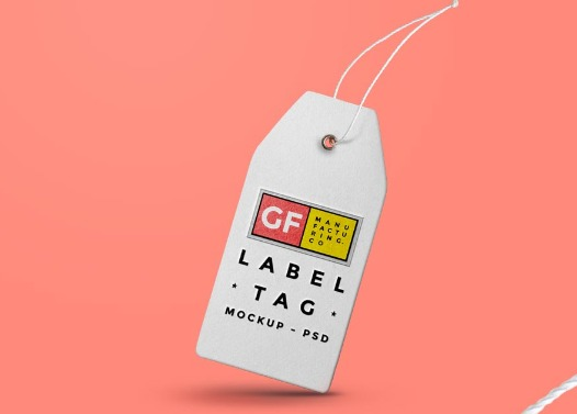 Label Tag Mockup PSD