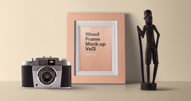 Psd Wood Frame Mockup Vol3