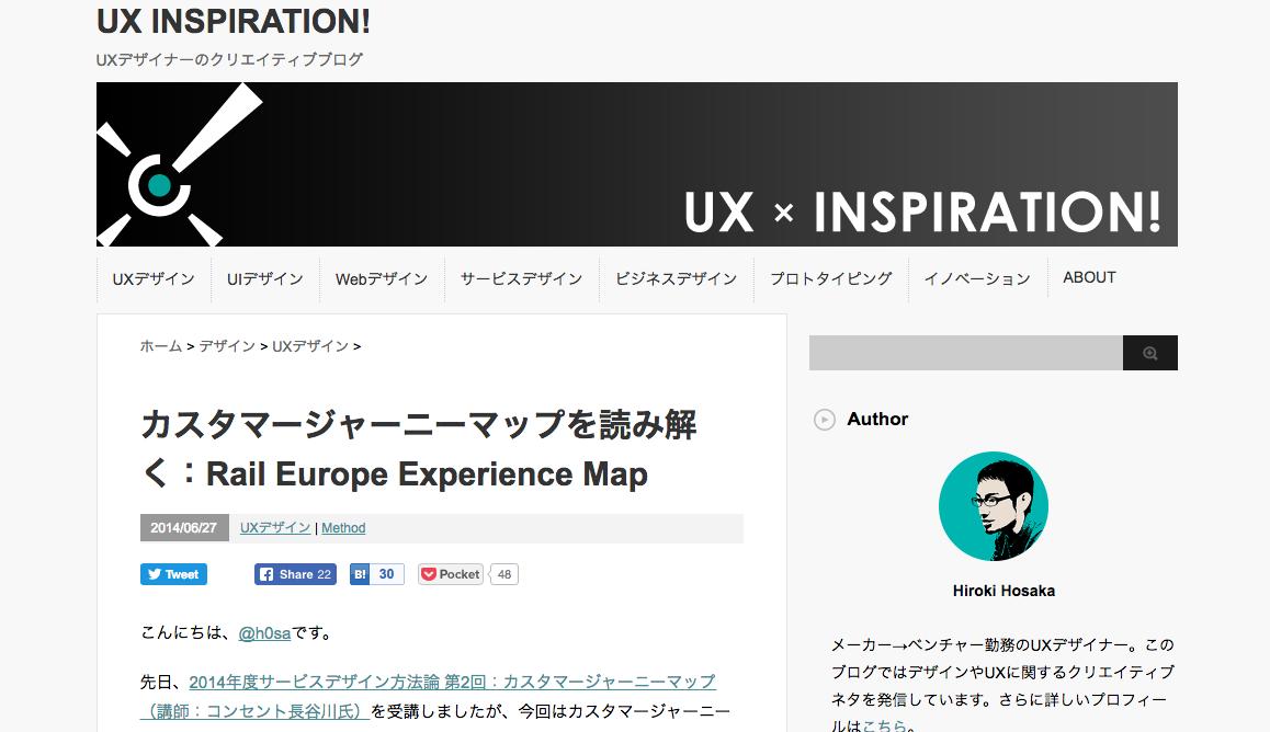 カスタマージャーニーマップを読み解く:Rail Europe Experience Map|UX INSPIRATION!