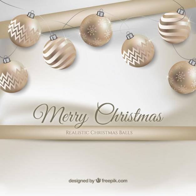 Realistic christmas balls background