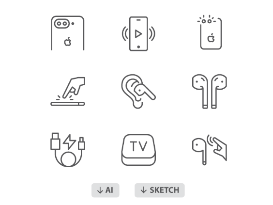 60 AirPods Icons