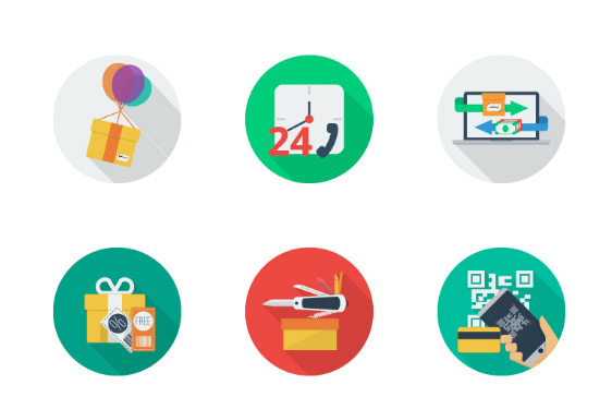 30 e-Commerce Flat Icons