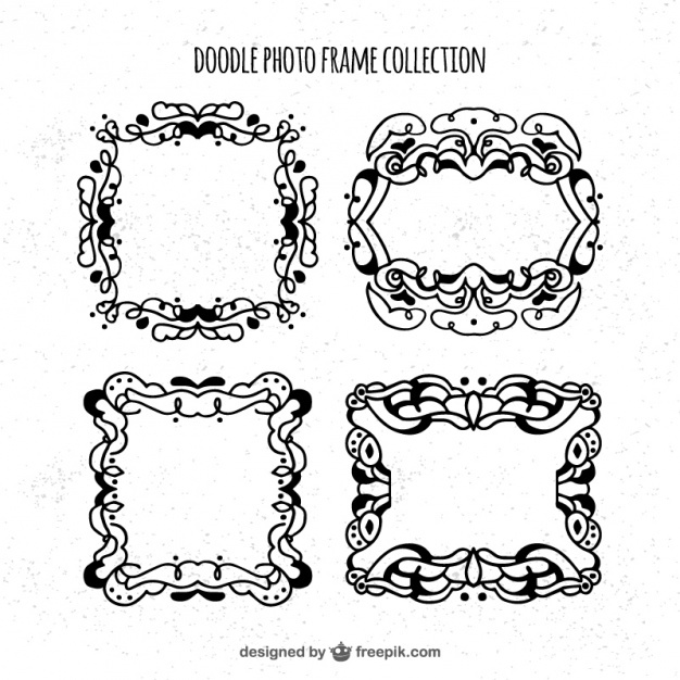 Several hand-drawn frames