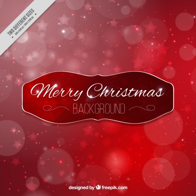 Christmas red bokeh background