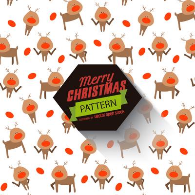 Christmas reindeer pattern