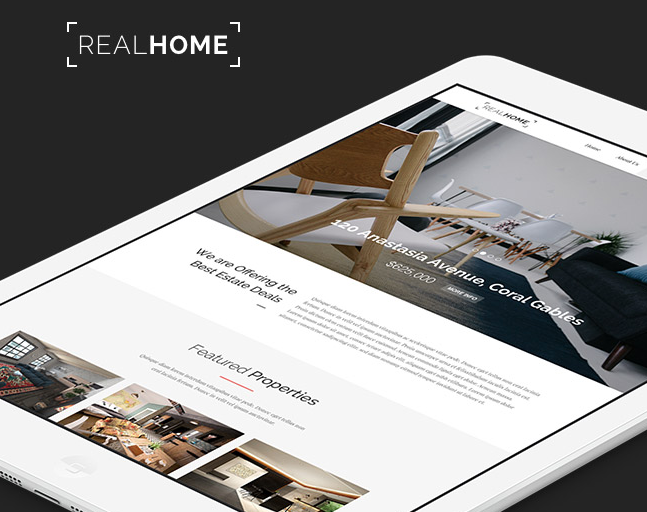 Real Home PSD Template