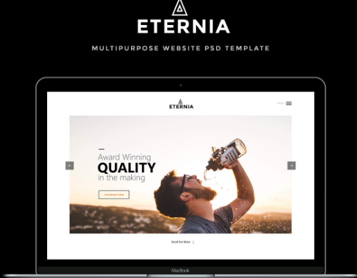 ETERNIA: Free Multipurpose Website Template PSD
