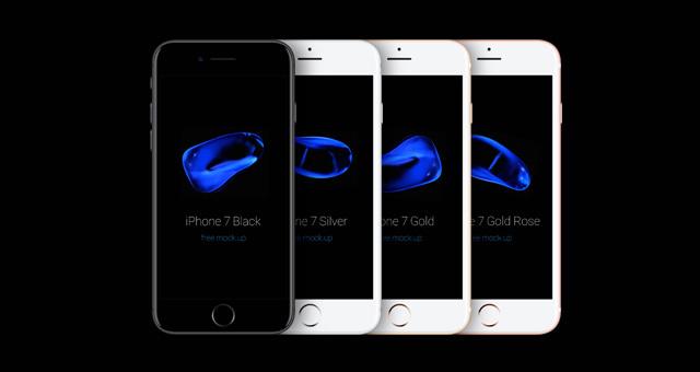 iPhone 7 Psd Mockup Vector