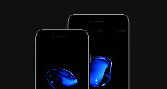 iPhone 7 Psd Jet Black Mockup