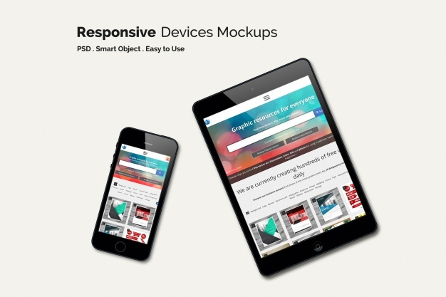 Mobile phone and tablet mock up