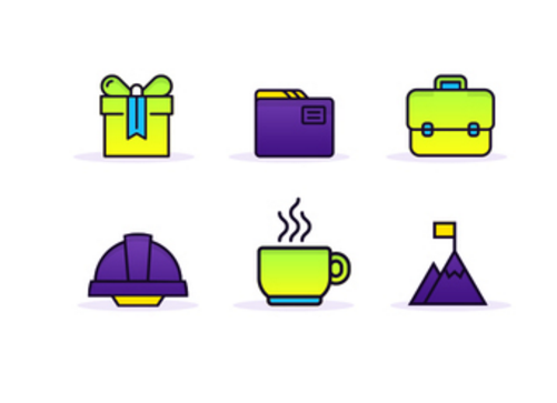 Gradient Productivity Icons