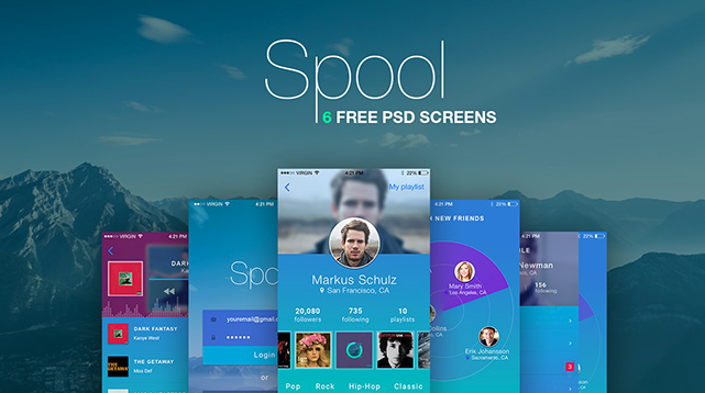 Spool: 6 Mobile UI Templates