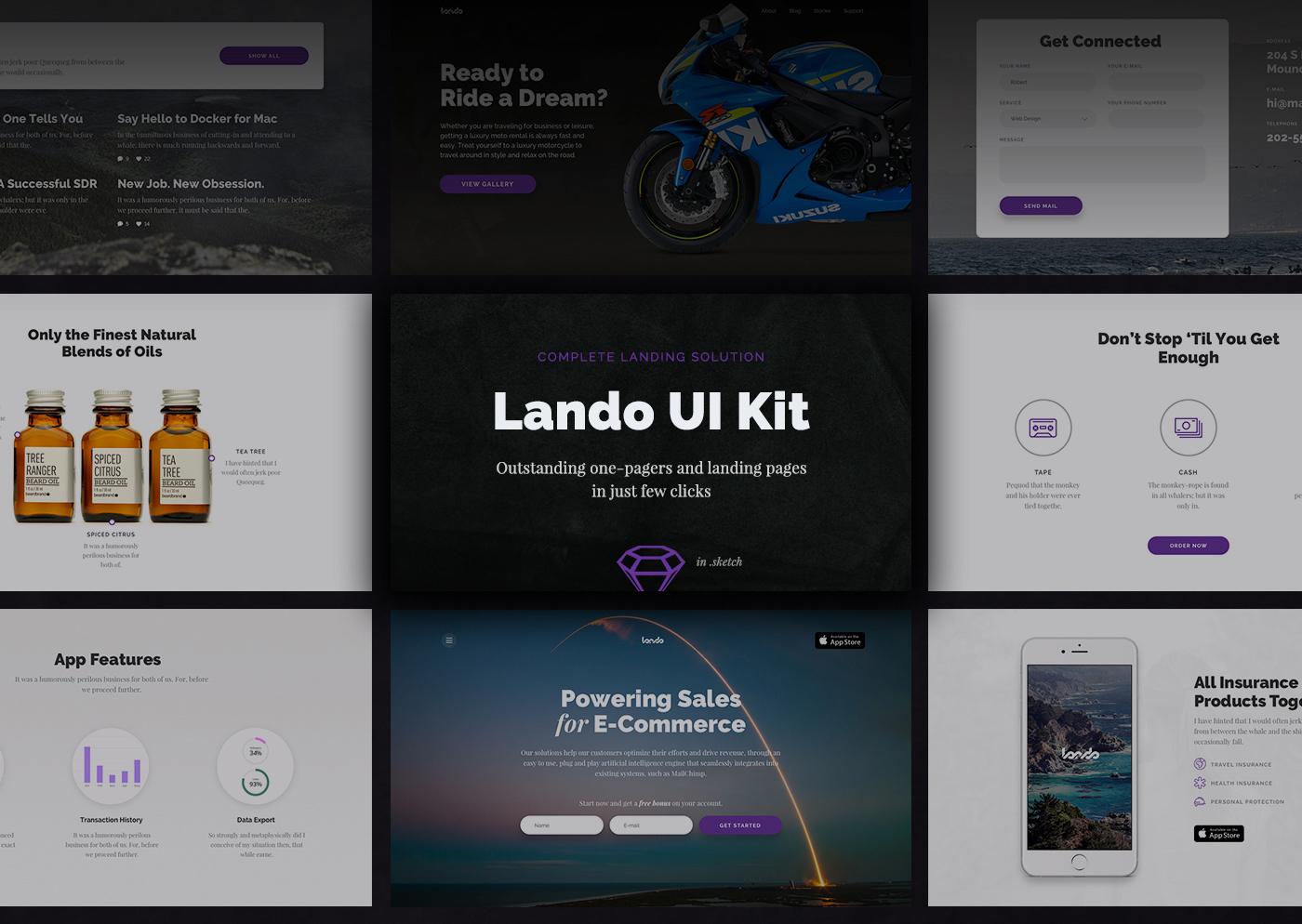 Lando UI Kit – Free Sample