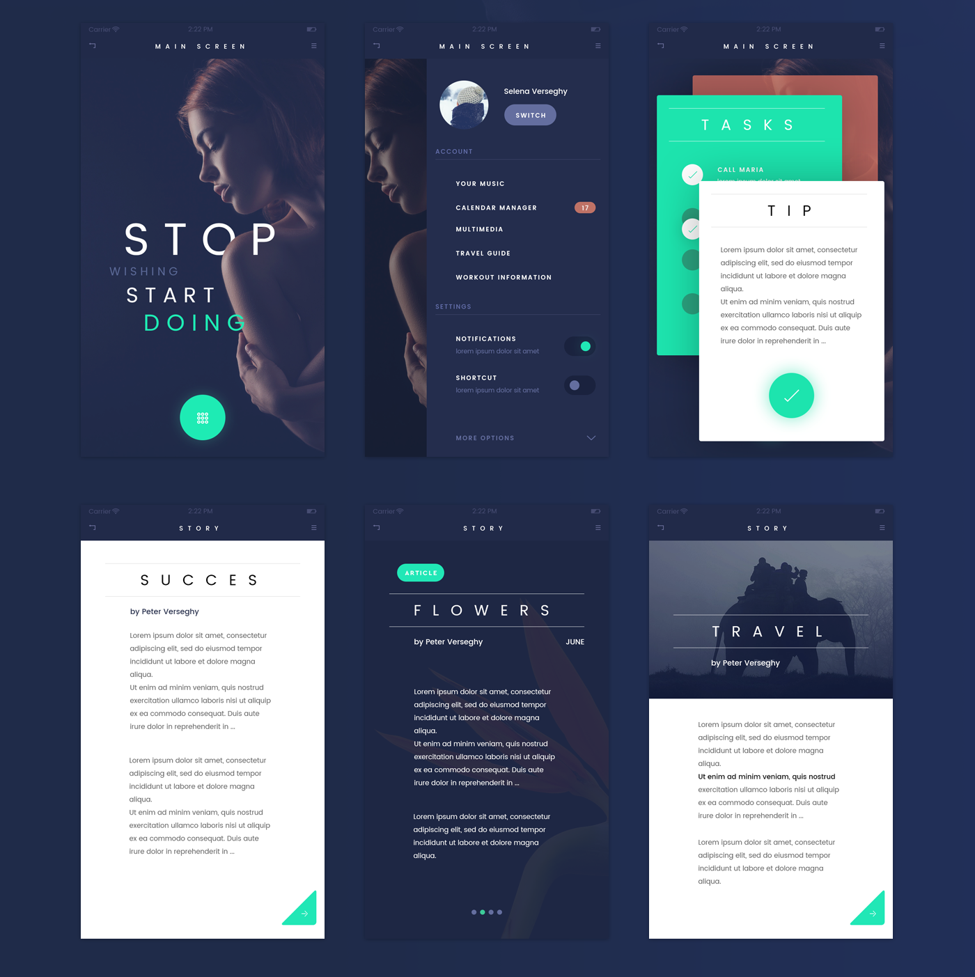 FADE APP UI KIT | FREEBIE |