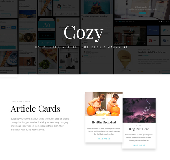 Cozy UI Kit – Free Sample