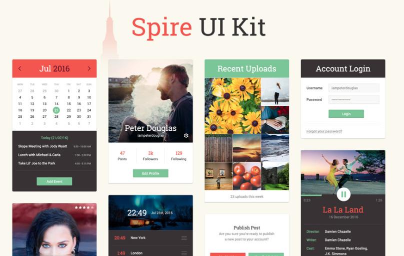 Spire: A Free UI Kit