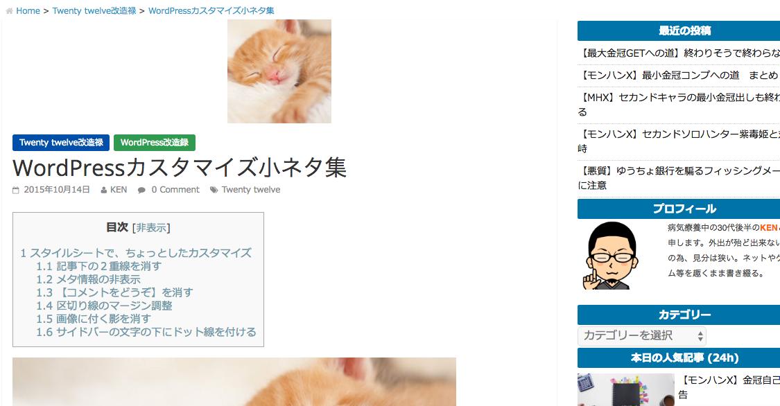 WordPressカスタマイズ小ネタ集|そこログで?