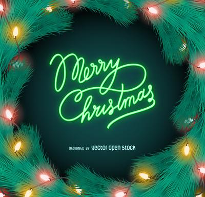 Merry Christmas neon lights sign