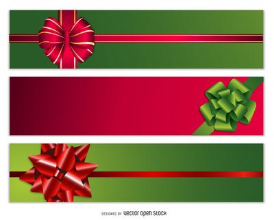 Celebration bow banner set
