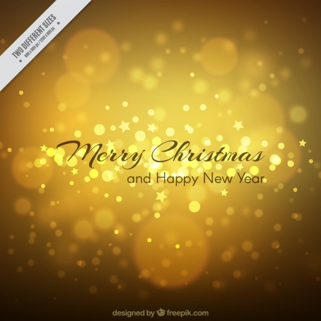 Golden background of merry christmas with stars