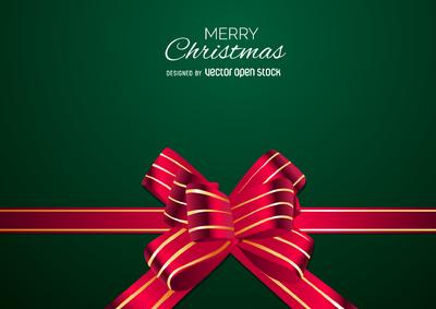 Christmas bow backdrop design