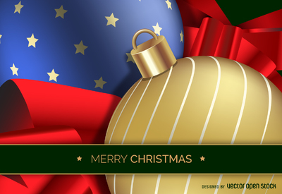 Realistic 3D Christmas ball design