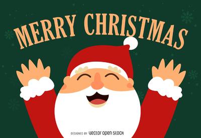 Flat Santa illustration design