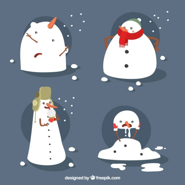 Funny collection of snowmen
