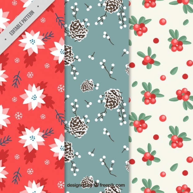 Assortment of beautiful christmas patterns