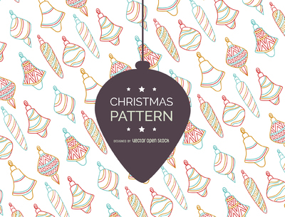 Retro Christmas ornament pattern