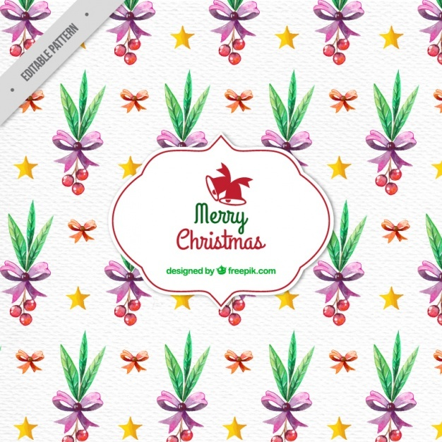 Mistletoe christmas pattern