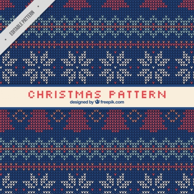 Christmas pattern with fabric texture