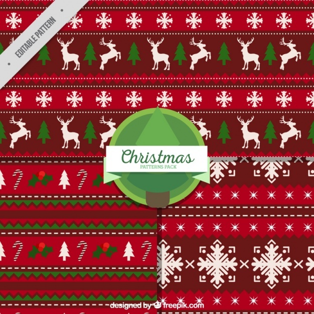Christmas red decorative patterns
