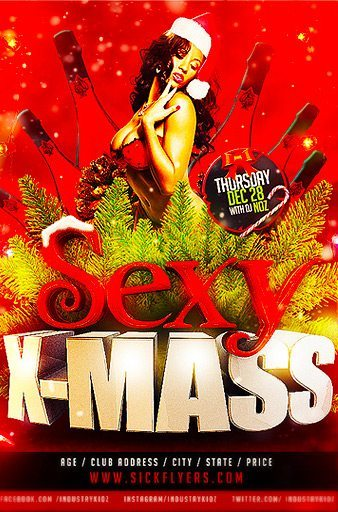 Free Download Sexy X-Mass PSD Flyer Template