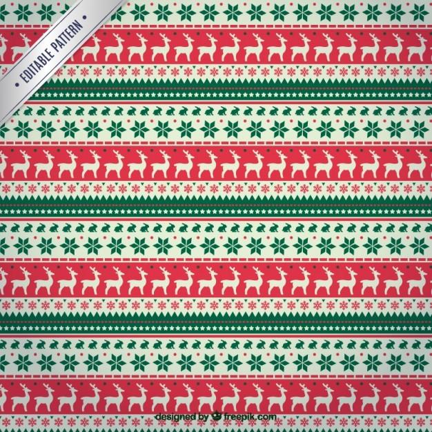 Christmas reindeers pattern