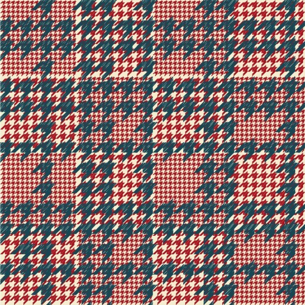Houndstooth checkered pattern