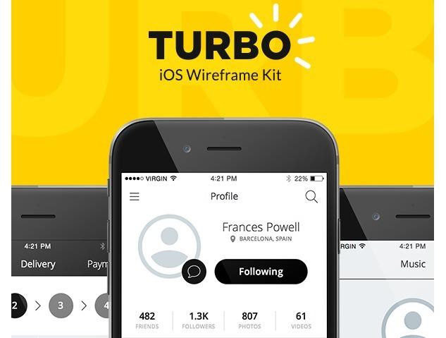 Turbo iOS Wireframe Kit – Free Sample