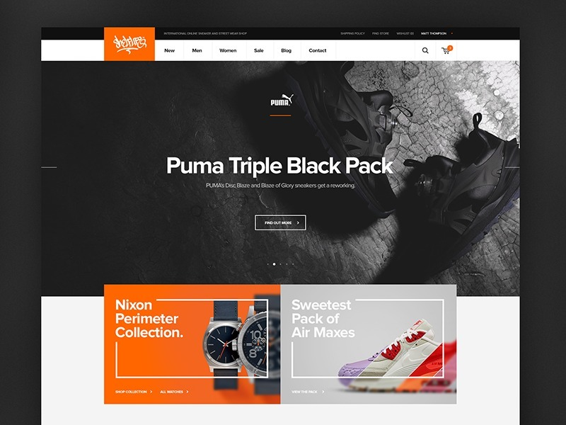 Ecommerce Template PSD