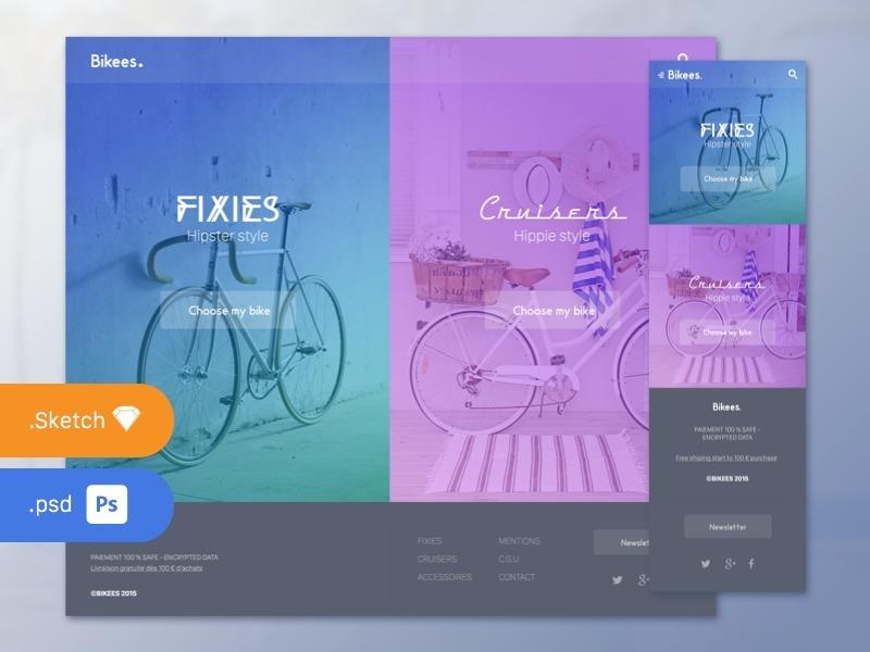Web & Mobile Hompage Design